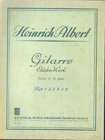 Gitarre Etüden Werk  von Heinrich Albert Heft 6