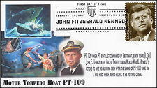 17-050, 2017, John F Kennedy, President, PT 109, 100 years, Pictorial, FDC