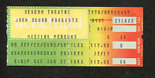 1983 Missing Persons Raybeats Concert Ticket Stub Beacon Theatre Walking In LA
