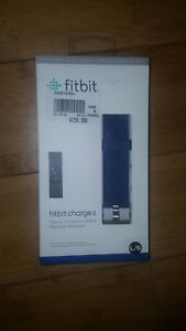 New & Sealed Fitbit Charge 2 Classic Accessory Band - Blue Large Fast Shipping