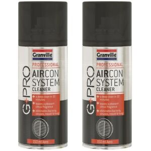 2 x Granville Pro Air Con Cleaner Odour Bomb Purifier Air Conditioning Freshener