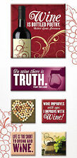 Paper House WINE 3-D Canvas Art Stickers scrapbooking GRAPES BOTTLE BARREL