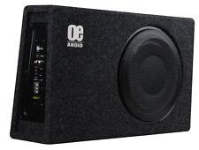 "OE Audio 12"" Shallow Slim Car Amplified Subwoofer Box 900w inc Wiring Kit"