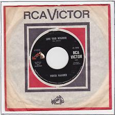 "Porter WAGONER Vinyl 45T 7"" RPM LOVE YOUR NEIGHBOR -SKID ROW JOE RCA VICTOR 8723"