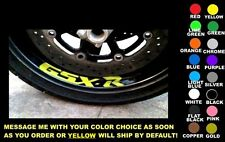GSX-R WHEEL / RIM DECALS, SET OF 2, ANY COLOR! suzuki gsxr 600 750 1000 1100 gsx
