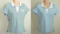 Womens AEROPOSTALE Striped Shrunken Aero Jersey Polo Shirt NWT #4964
