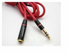 2X MONSTER 4FT 3.5mm 4-Pole AUX Extension Cable Audio Headphone Male to Female