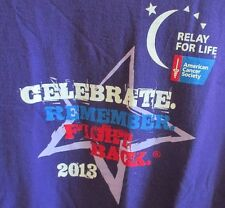 Relay For Life T-Shirt Large Purple Cancer Support Celebrate Remember Fight Tee
