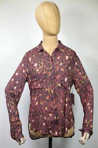 NEU Bella Dahl Bluse Hemd Top Hipster Shirt Full Button Down Rot Gr.S (179)