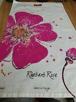 Scott Inness Tea Towel RHUBARB ROSE Scotland in Design-Contemporary GUC
