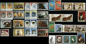 CATS Kittens Topical Stamps Postage Collection Mongolia Guinea Bissau