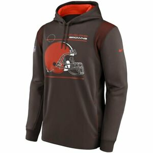 Brand New 2021 Cleveland Browns Nike Sideline Logo Performance Pullover Hoodie