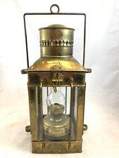 Antique Neptune NR Brass Maritime Ship Oil Lantern Lamp