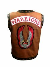 REAL LEATHER WARRIOR VEST THE WARRIORS MOVIE MOTORCYCLE RIDER HALLOWEEN COSTUME