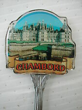 * B CUILLERE DE COLLECTION SPOON - RESINE- CHAMBORD CHATEAU