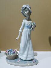 Lladro Daisa 1978 - Wild Flower Figurine - Girl with Flowers