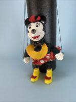Minnie Mouse Vintage Marionette Disney Puppet Great Condition