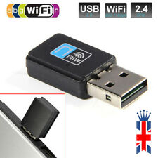 300Mbps WiFi Wireless Adapter USB 2.0 Hi-Speed 2.4GHz Receiver Dongle 802.11 LAN