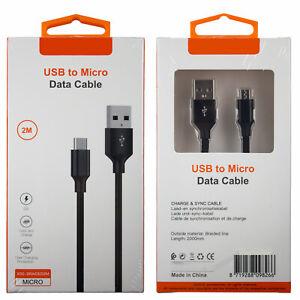 Micro USB Kabel Ladekabel Datenkabel Android 2m 200cm XSS-BRAIDED2M