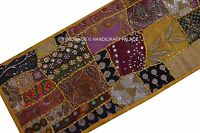 Beaded Embroidered Vintage Cotton Decor Wall Hanging Indian Patchwork Tapestry