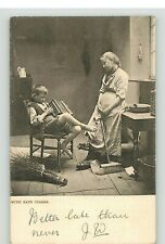 POSTCARD TUCK ART SERIES - MUSIC HATH CHARMS - ACCORDION - POSTED 1905