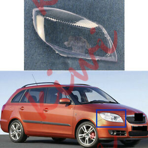 1Pcs Right Side Headlight Cover Clear PC With Glue For Skoda Fabia 2007-2010