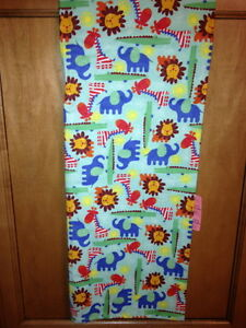 Jungle Animal Flannel Multicolor Handmade Receiving Blanket for baby XL 41 x 40