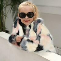 Toddler Kids Girl Winter Warm Clothes Fluffy Faux Fur Thick Coat Jacket parka sz