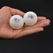 100Pcs DOUBLE FISH 3-Stars 40mm Olympic Table Tennis Balls White Ping Pong Ball