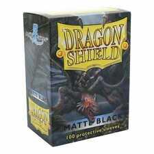 More details for 100 x black matte standard sleeves [ dragon shield ] for magic mtg & pokemon