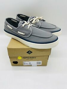 SPERRY Top Sider Men's Captains 2-Eye Casual Sneakers Grey
