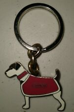 Coach Jack Russell Terrier Dog Key Fob Keychain Used Rare