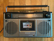 Vintage Sanyo M-9909 Boombox Ghetto Blaster Am/fm Stereo Clean Tape Cassette