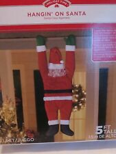 Hanging ON SANTA CHRISTMAS Decoration Indoor Outdoor 5 feet House Decor NEW