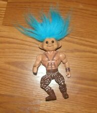 "5"" Troll Tough Muscle Blue HAIR 1992"