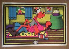 Easy Rider Vintage Black Light Poster Popeye Sex Olive Oil Petagno Saladin 1970s