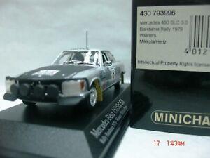 WOW EXTREMELY RARE Mercedes 450 SLC Mikkola Winner Bandama 1979 1:43 Minichamps