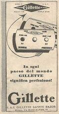 W2294 GILLETTE Safety Razor - Pubblicità del 1930 - Old advertising