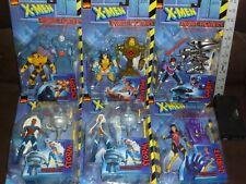 X MEN ROBOT FIGHTER 6 FIGURE SET WOLVERINE JUBILEE STORM GAMBIT CYCLOPS 1997