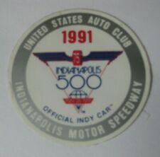 Original 1991 USAC Indianapolis Indy 500 Mile Race Car Decal