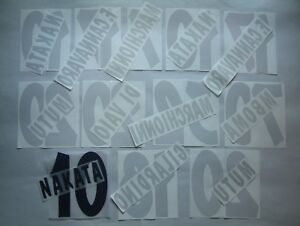 KIT NOME+NUMERO UFFICIALI PARMA HOME/AWAY/3RD 2001-2003 OFFICIAL NAMESET