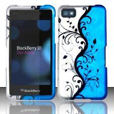 Design Rubberized Hard Case for Blackberry Z10 - Blue Vines