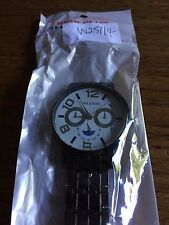 New Gents ORLANDO Large White Faced SS Watch  W257/4