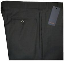 $345 NWT ZANELLA NORDSTROM DEVON BLACK-BROWN MICRO DOT GRID 120'S WOOL PANTS 36
