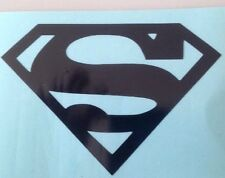 Black Superman Logo Vinyl Decal Superhero DC