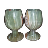 JT Handmade Marble Wine / Champagne Glasses Set of 2