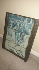 Vintage To School Well Fed on Grape-Nuts Wood Mounted Sign Americana Repro