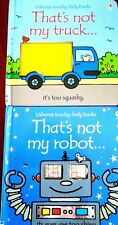 THAT'S NOT MY ROBOT + THAT'S NOT MY TRUCK..TOUCHY FEELY BOOKS..ALMOST AS NEW