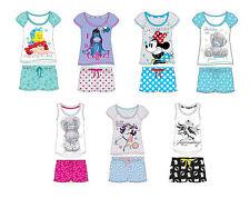 Ladies Girls Novelty Shortie Pjs Ariel Wonder Woman Minnie Eeyore pyjama 8-22