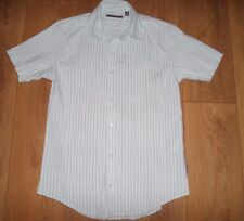 """TED BAKER LIGHT BLUE & NAVY STRIPED SHIRT WITH STRETCH SIZE S (CHEST 36-38"""")"""